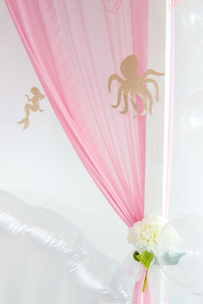 Octopus decor piece from a Pastel Mermaid Party on Kara's Party Ideas | KarasPartyIdeas.com (24)