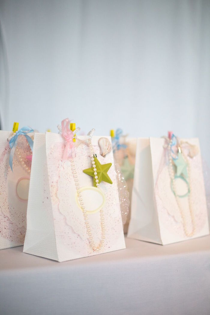Mermaid + under the sea favor bags from a Pastel Mermaid Party on Kara's Party Ideas | KarasPartyIdeas.com (14)