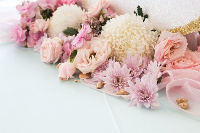 Fresh florals from a Pastel Mermaid Party on Kara's Party Ideas | KarasPartyIdeas.com (10)