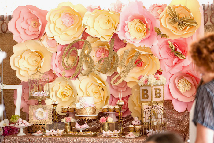 Pink U0026 Gold Butterfly Baby Shower On Karau0027s Party Ideas |  KarasPartyIdeas.com ...