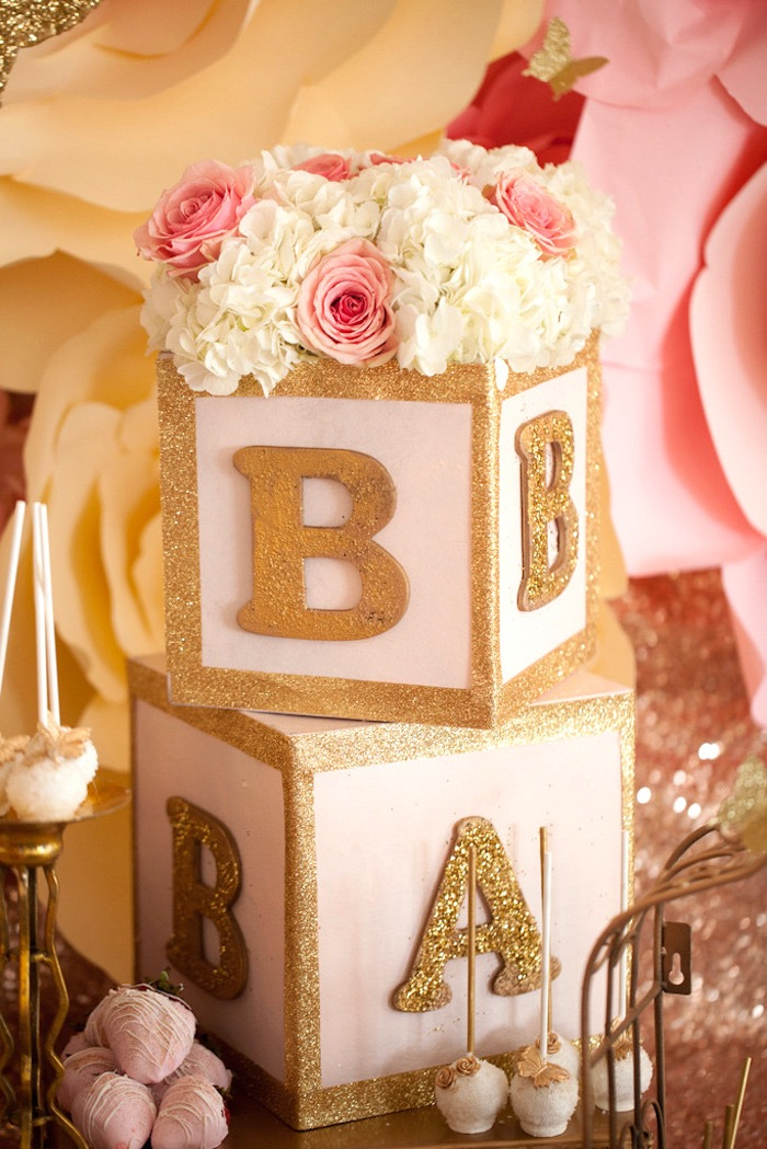 Kara s party ideas pink gold butterfly baby shower
