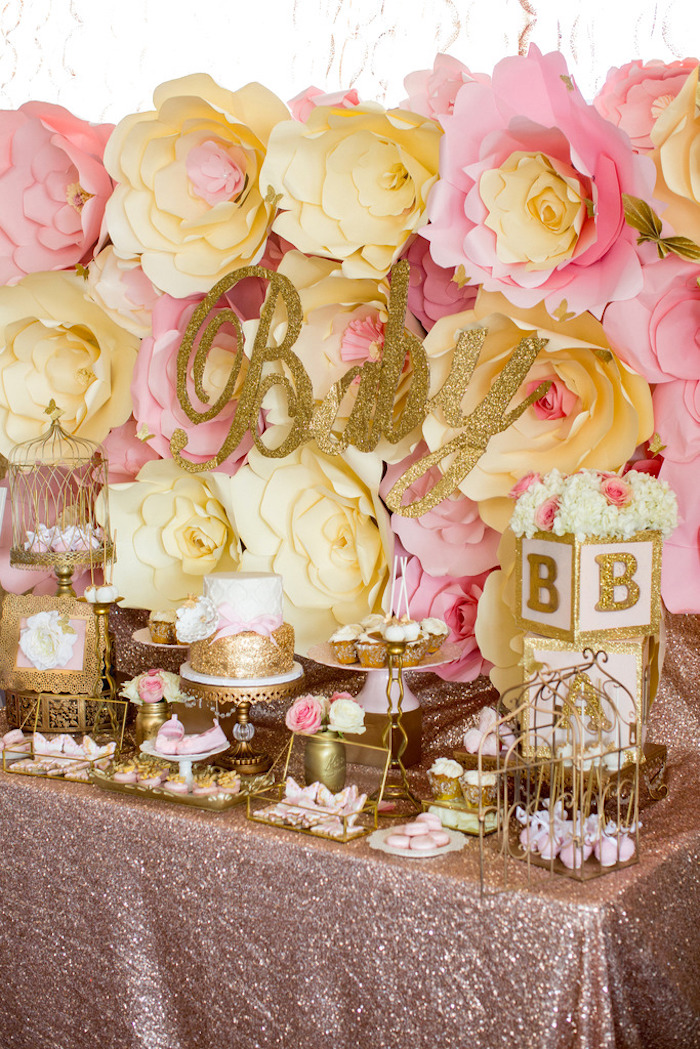 Kara S Party Ideas Pink Amp Gold Butterfly Baby Shower