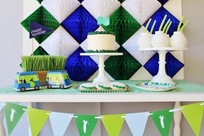 Dessert spread from a Preppy Golf Birthday Party on Kara's Party Ideas | KarasPartyIdeas.com (9)