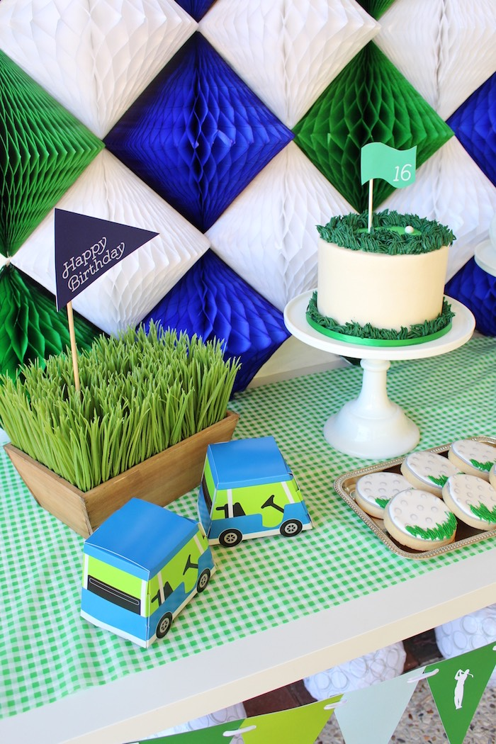 Details from a Preppy Golf Birthday Party on Kara's Party Ideas | KarasPartyIdeas.com (8)