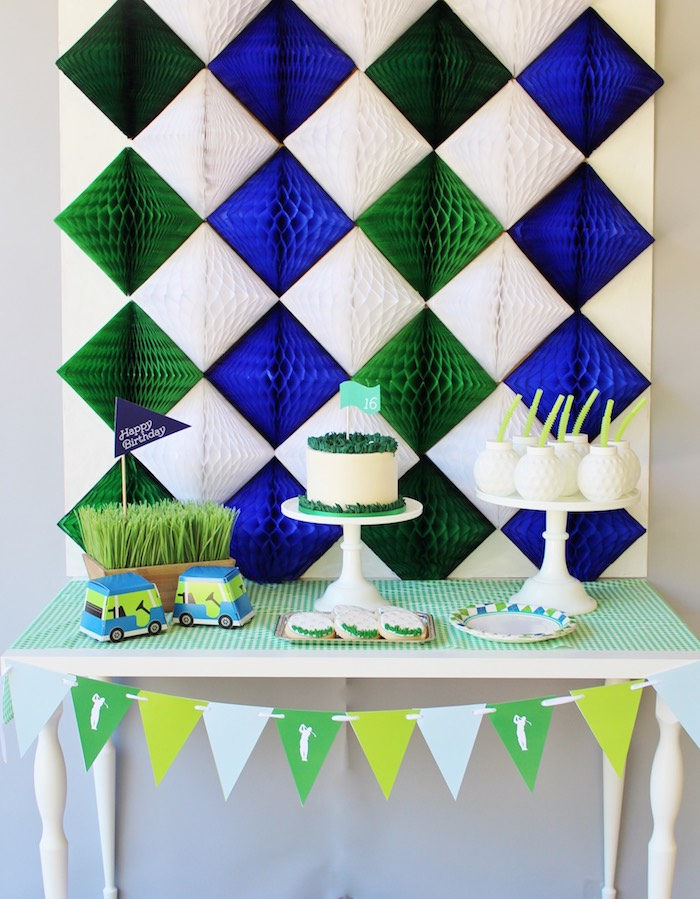 Preppy Golf Birthday Party on Kara's Party Ideas | KarasPartyIdeas.com (6)