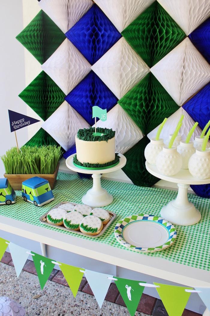 Preppy Golf Birthday Party on Kara's Party Ideas | KarasPartyIdeas.com (5)