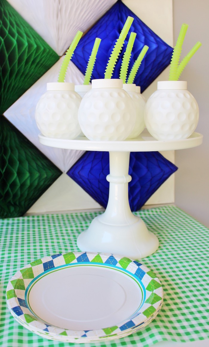 Golf ball cups from a Preppy Golf Birthday Party on Kara's Party Ideas | KarasPartyIdeas.com (17)