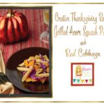 Creative Thanksgiving Recipes: Grilled Acorn Squash with Pasta and Red Cabbage Recipe via Kara's Party Ideas
