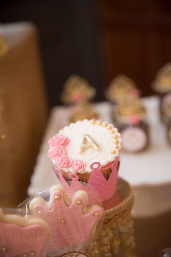 Crown cupcake from a Royal Princess Birthday Party on Kara's Party Ideas | KarasPartyIdeas.com (27)