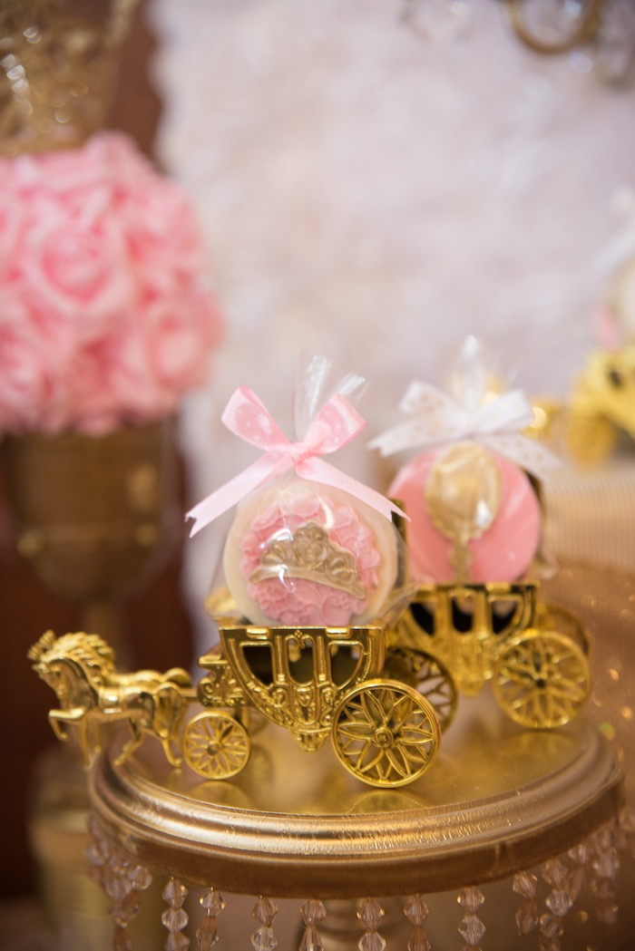 Chocolate covered Oreos in carriages from a Royal Princess Birthday Party on Kara's Party Ideas | KarasPartyIdeas.com (23)