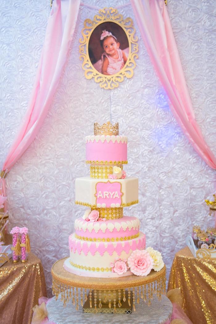 kara u0026 39 s party ideas gold  u0026 pink royal princess birthday