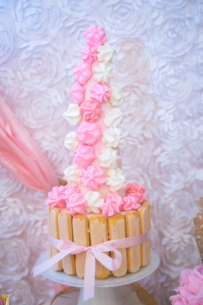 Meringue tower from a Royal Princess Birthday Party on Kara's Party Ideas | KarasPartyIdeas.com (18)