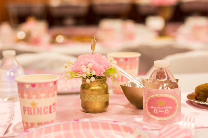 Guest table detail from a Royal Princess Birthday Party on Kara's Party Ideas | KarasPartyIdeas.com (36)