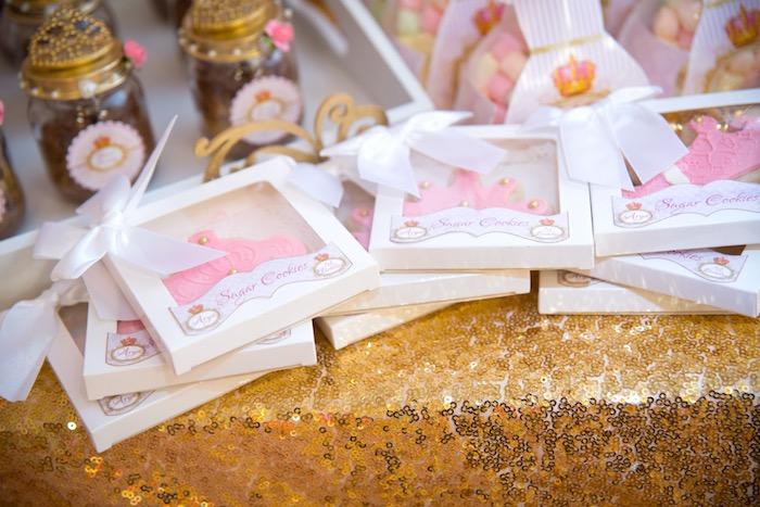 Royal princess sugar cookies from a Royal Princess Birthday Party on Kara's Party Ideas | KarasPartyIdeas.com (15)