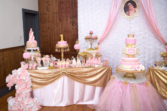 Dessert Table From A Royal Princess Birthday Party On Karas Ideas