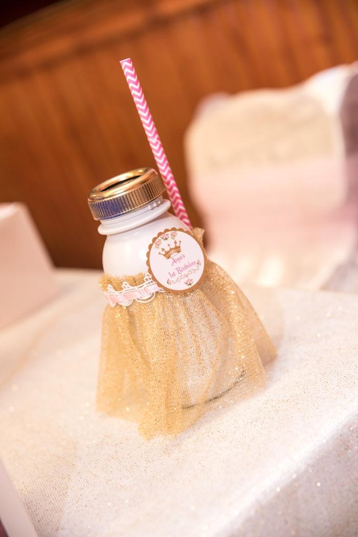Drink bottle from a Royal Princess Birthday Party on Kara's Party Ideas | KarasPartyIdeas.com (7)