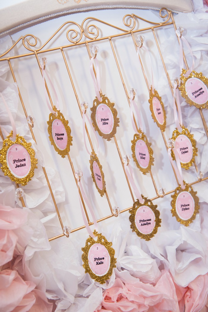 Seating chart from a Royal Princess Birthday Party on Kara's Party Ideas | KarasPartyIdeas.com (4)