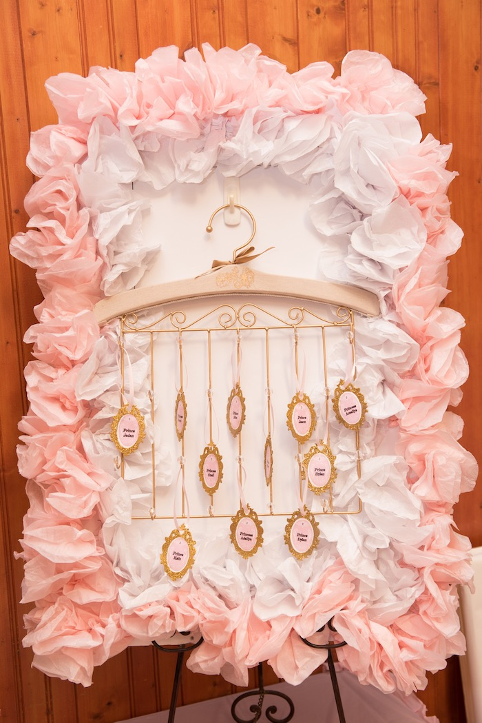 Seating chart from a Royal Princess Birthday Party on Kara's Party Ideas | KarasPartyIdeas.com (3)
