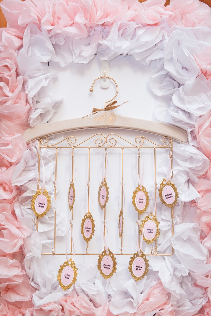Seating chart from a Royal Princess Birthday Party on Kara's Party Ideas | KarasPartyIdeas.com (2)