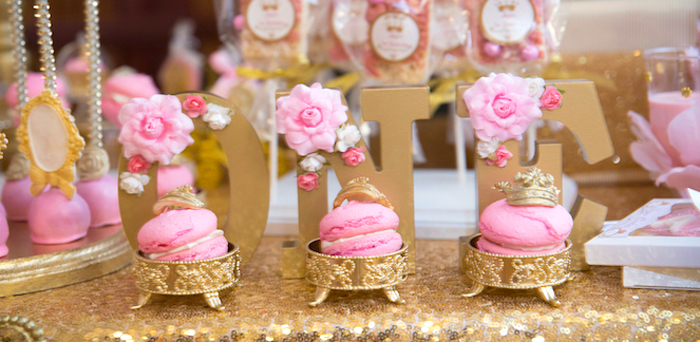 Kara S Party Ideas Gold Amp Pink Royal Princess Birthday