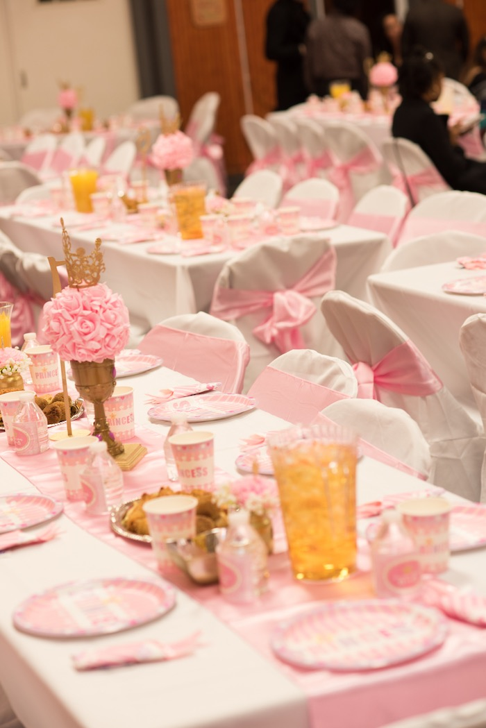 Kara\'s Party Ideas Gold & Pink Royal Princess Birthday Party ...