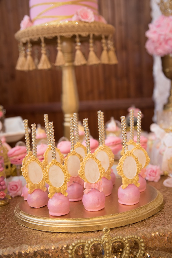 Pink cake pops from a Royal Princess Birthday Party on Kara's Party Ideas | KarasPartyIdeas.com (30)