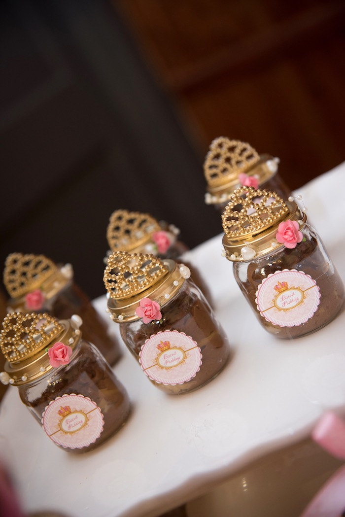 Crown topped favor jars from a Royal Princess Birthday Party on Kara's Party Ideas | KarasPartyIdeas.com (28)
