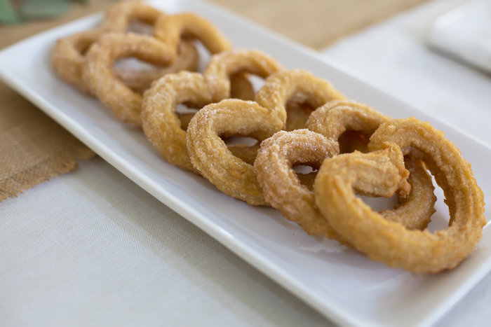 Heart churros from a Rustic Floral Bridal Shower on Kara's Party Ideas | KarasPartyIdeas.com (21)