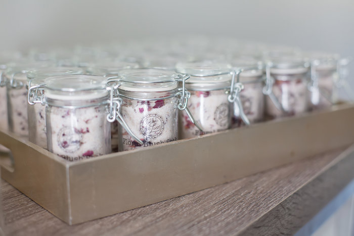 Floral blush soak favors from a Rustic Floral Bridal Shower on Kara's Party Ideas | KarasPartyIdeas.com (17)