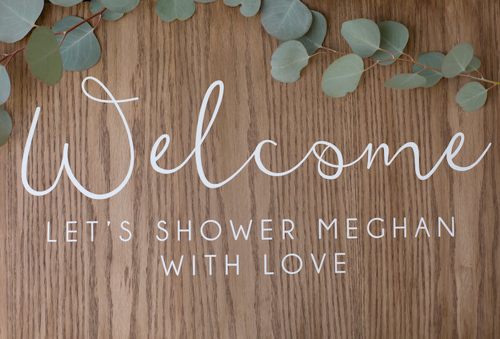 Welcome sign from a Rustic Floral Bridal Shower on Kara's Party Ideas | KarasPartyIdeas.com (16)