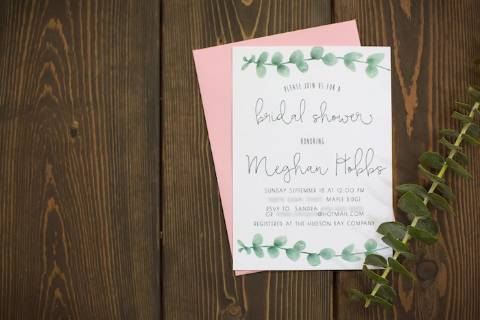 Floral invitation from a Rustic Floral Bridal Shower on Kara's Party Ideas | KarasPartyIdeas.com (27)