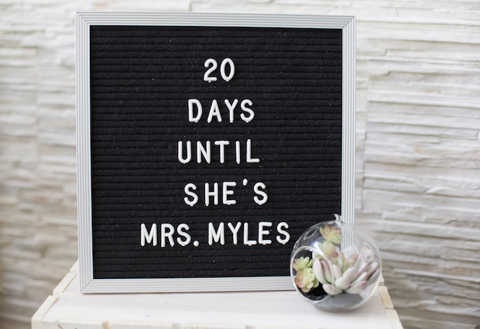 Sign from a Rustic Floral Bridal Shower on Kara's Party Ideas | KarasPartyIdeas.com (26)