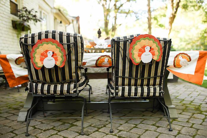 Kara's Party Ideas Felt Turkey Chair Decorations From A