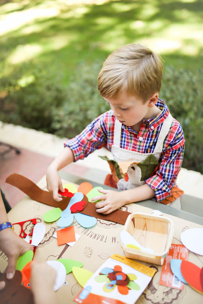 Kara's Party Ideas Rustic Thanksgiving Party for Kids | Kara's Party