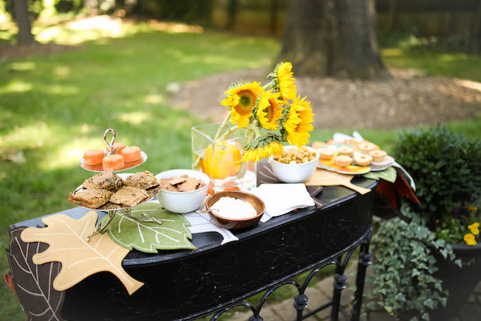 Kara's Party Ideas Fall Food Table From A Rustic