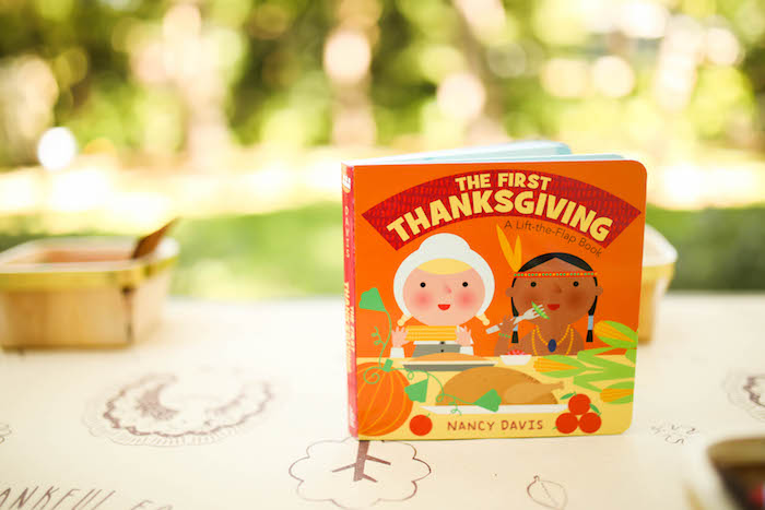 The First Thanksgiving book from a Rustic Thanksgiving Party for Kids on Kara's Party Ideas | KarasPartyIdeas.com (45)