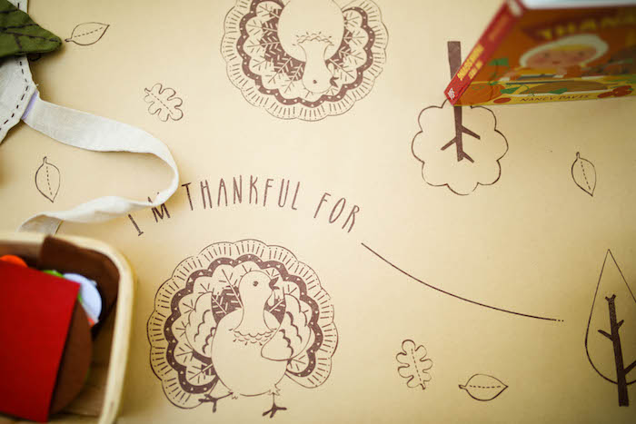 Rustic turkey table cover from a Rustic Thanksgiving Party for Kids on Kara's Party Ideas | KarasPartyIdeas.com (44)