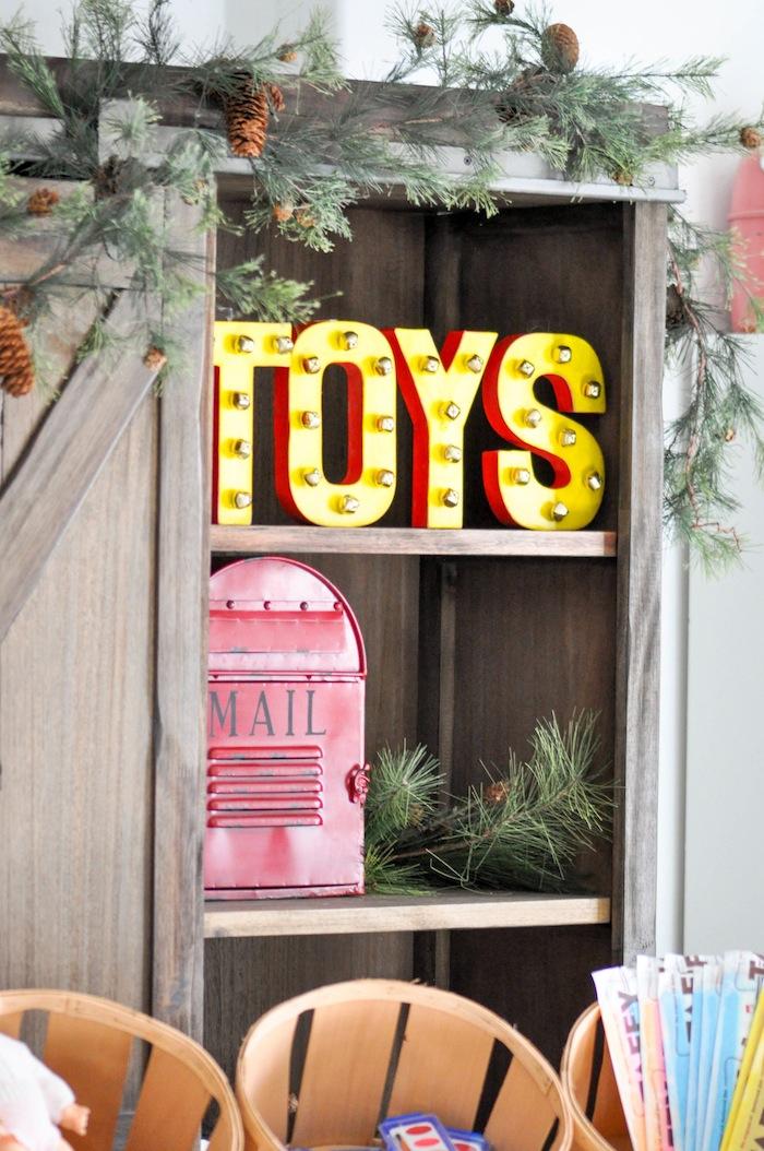 DIY Santa's Workshop Bell 3D Toy Christmas Letters
