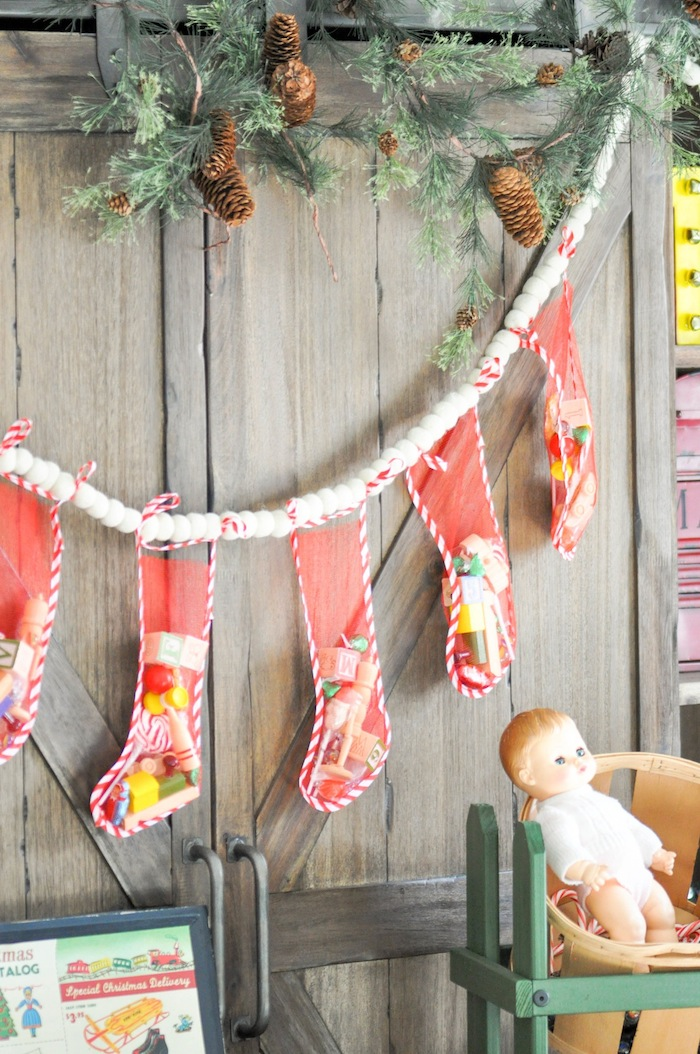 Vintage Santa's Workshop Holiday Christmas Party by Kara's Party Ideas   Kara Allen for Oriental Trading