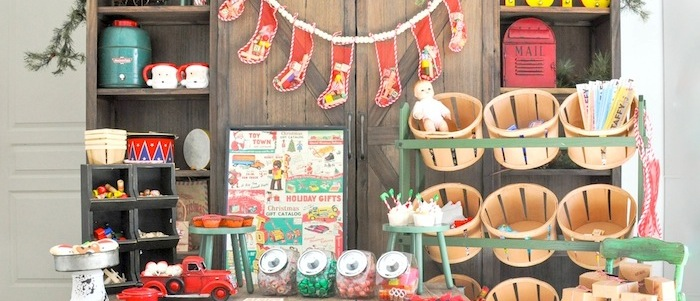 Vintage Santa's Workshop Holiday Christmas Party by Kara's Party Ideas | Kara Allen for Oriental Trading