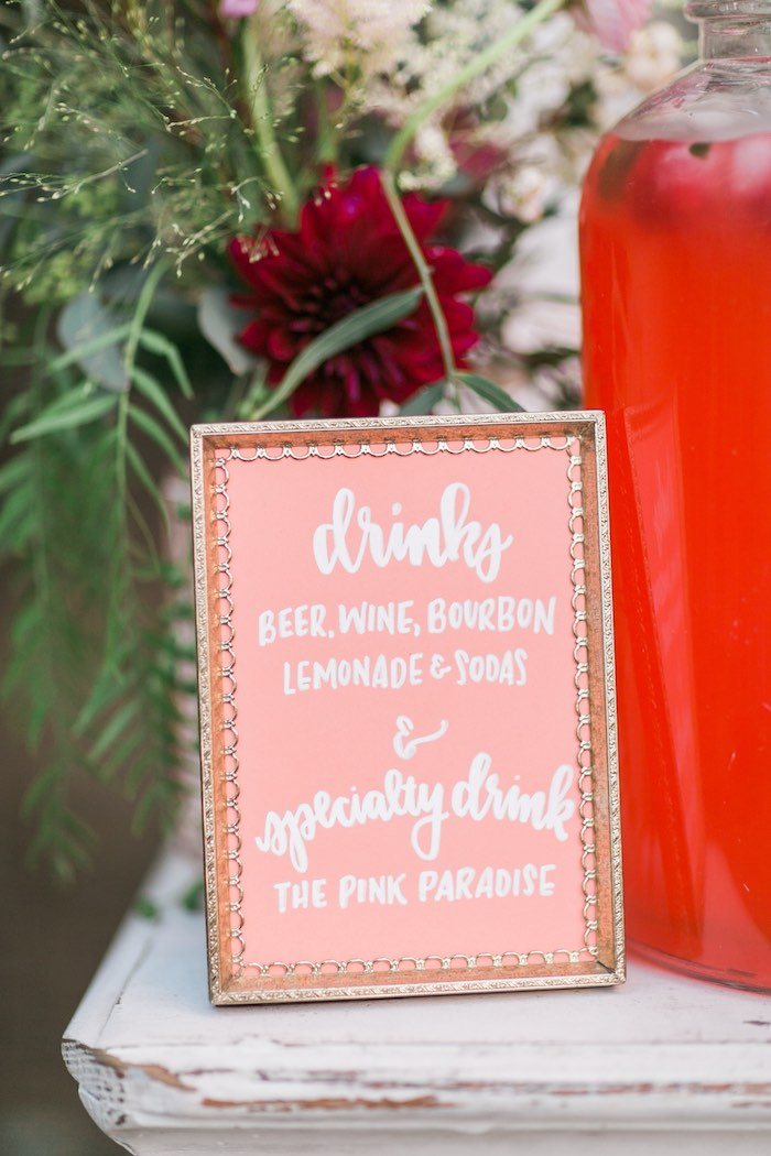 Printed and framed party sign from a Sparkly 30th Birthday Bash on Kara's Party Ideas | KarasPartyIdeas.com (56)