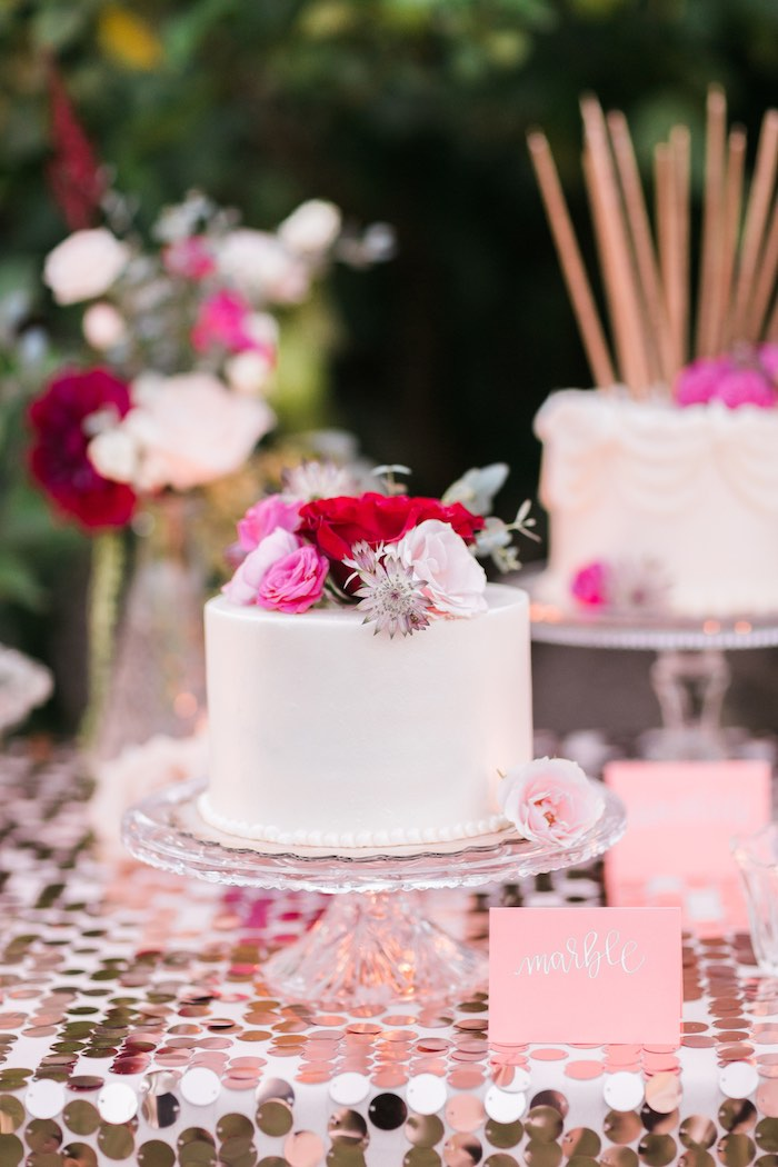 Cake from a Sparkly 30th Birthday Bash on Kara's Party Ideas   KarasPartyIdeas.com (31)