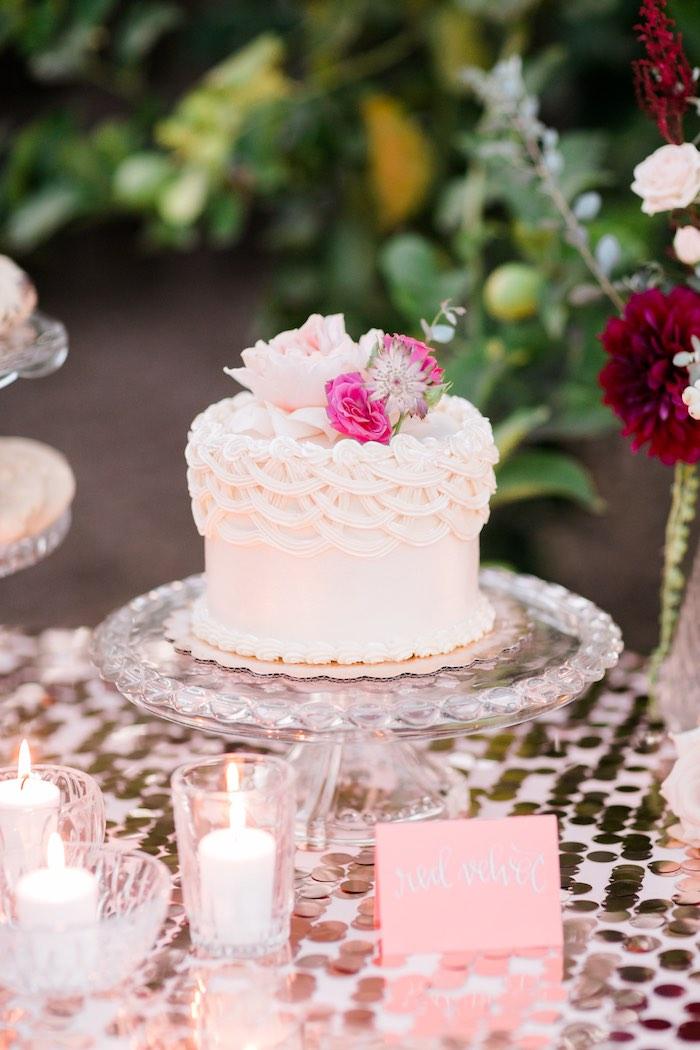 Cake from a Sparkly 30th Birthday Bash on Kara's Party Ideas   KarasPartyIdeas.com (30)