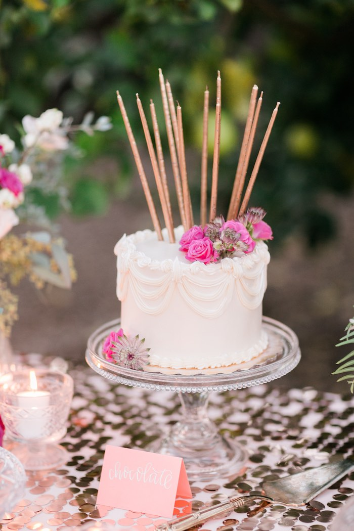 Cake from a Sparkly 30th Birthday Bash on Kara's Party Ideas   KarasPartyIdeas.com (29)