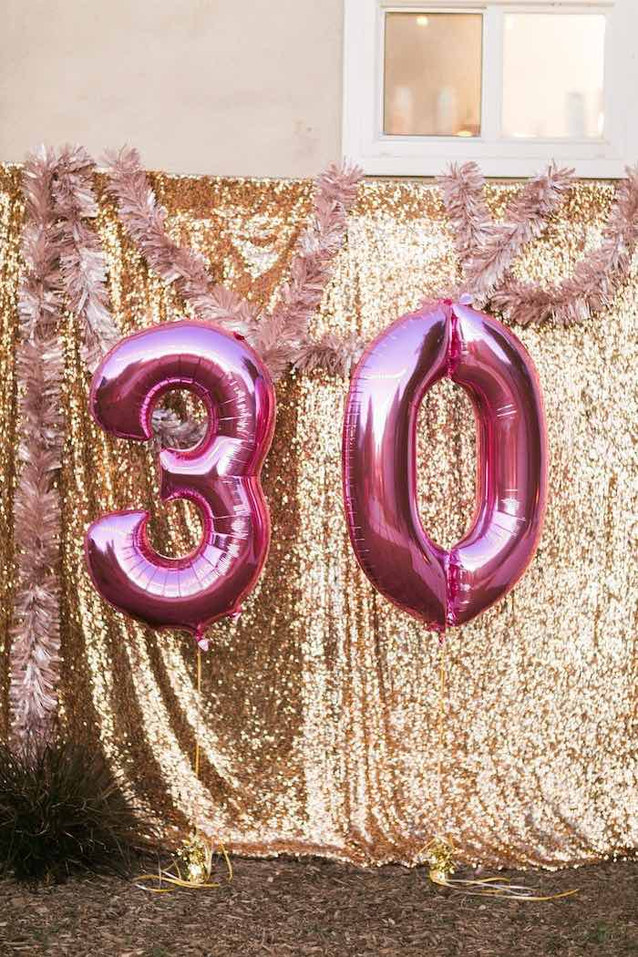 Kara 39 s party ideas sparkly 30th birthday bash kara 39 s for 30th birthday party decoration ideas
