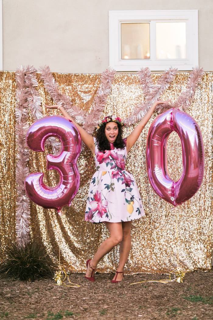 Karas Party Ideas Sparkly 30th Birthday Bash