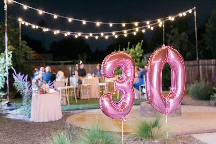 Sparkly 30th Birthday Bash on Kara's Party Ideas   KarasPartyIdeas.com (8)