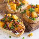 Crusty Simple & Delicious Squash Toast Recipe via Kara's Party Ideas