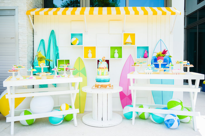 Surf's Up Beach Birthday Party on Kara's Party Ideas | KarasPartyIdeas.com (35)