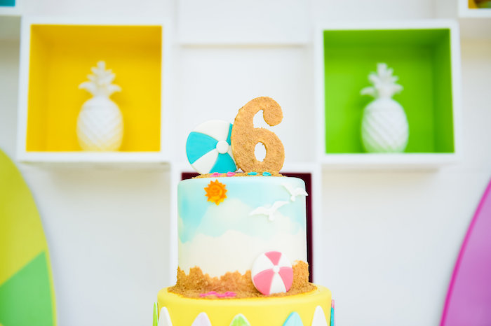 Cake from a Surf's Up Beach Birthday Party on Kara's Party Ideas | KarasPartyIdeas.com (33)